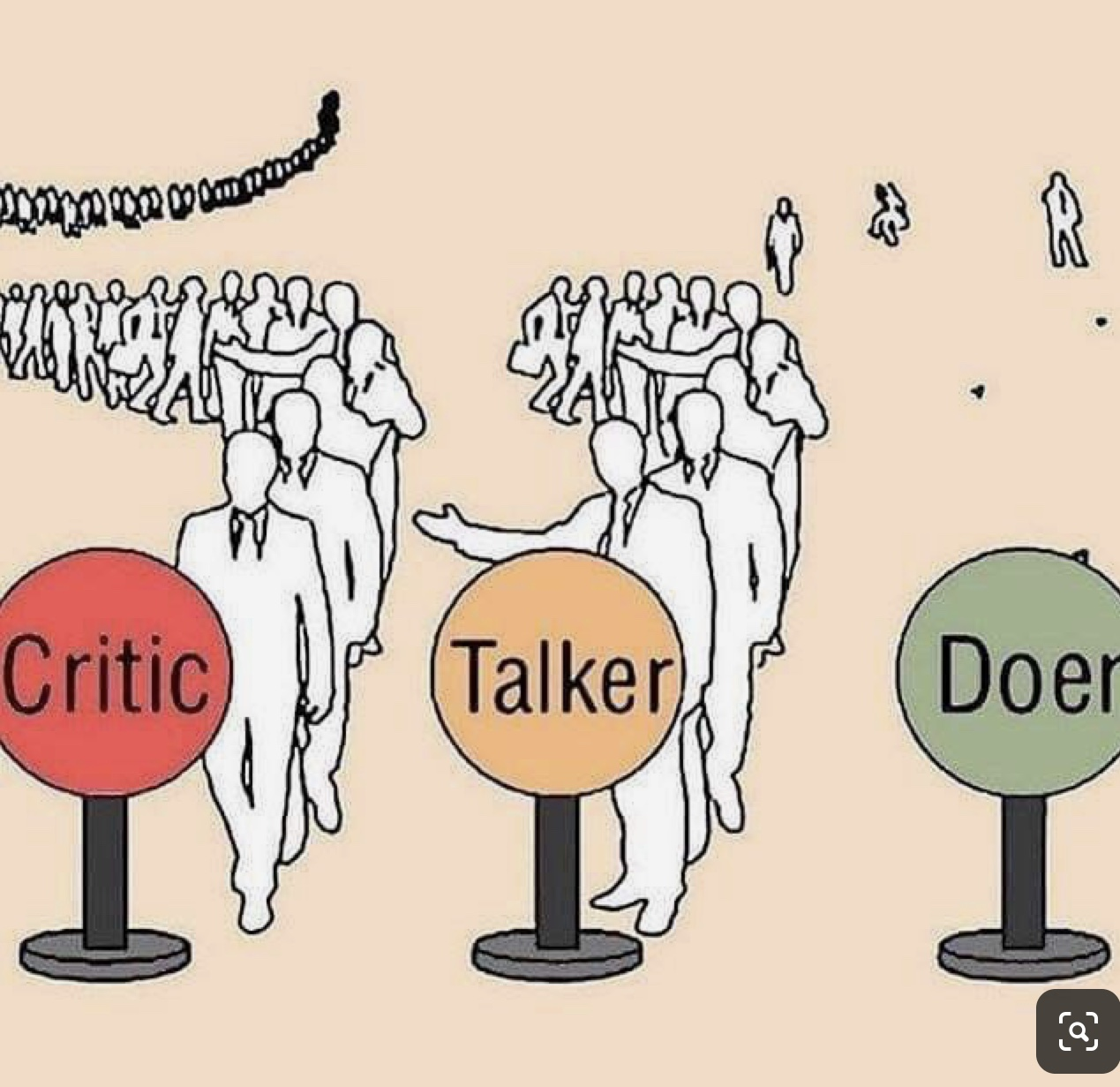 Critic Talker Doer